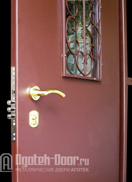 металлические двери порошок с ковка